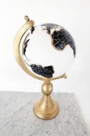 Golden Globe DIY Painted Globe Book Shelves And Globe - Home decorator items