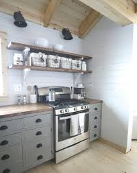 Kitchen Diy Cabinets by Open Kitchen Cabinets Ana White Open Shelves For Our Cabin Kitchen