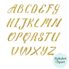 buy 2 get 1 free matte gold texture alphabet clipart digital