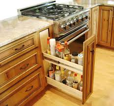 furniture creative recipe storage in kitchen cabinet design idea