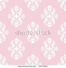 seamless damask pattern pink white texture stock illustration