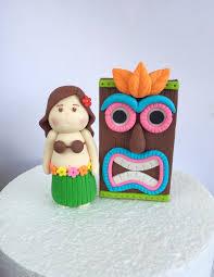 Luau Cake Decorations Fondant Luau Cake Topper Hula Cake Topper Fondant Palm