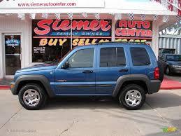 liberty jeep 2004 2004 atlantic blue pearl jeep liberty sport 4x4 18571883
