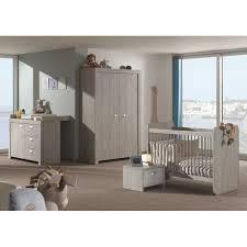 chambre complete bebe à 2 portes ouvrantes pour chambre bébé coloris grège