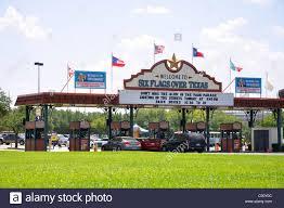 Sox Flags Over Texas Entrance To Six Flags Over Texas Amusement Park Arlington Fort