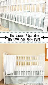 Bed Skirts For Cribs The Easiest Diy Crib Skirt Tutorial Crib Skirt Tutorial