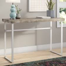 robinwood 3 drawer console table bar height console table wayfair