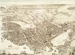 Nh Map Vintage Map Of Portsmouth New Hampshire From 1877 Knowol