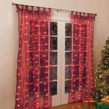 84034 lighted pre lit light window panel curtain