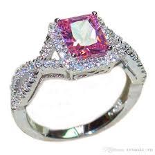 topaz gemstone rings images 2018 luxury 6ct square pink topaz cz diamond gemstone rings finger jpg