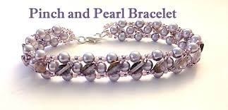pearl bracelet tutorials images Pinch 39 n pearls bracelet left handed 2 needle raw jpg