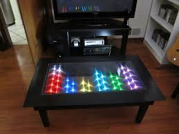 coffee table fascinating led coffee table ideas attractive black