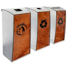 3 Bin Cabinet Recycling Containers Compost Bins Recycle The Container 10071908