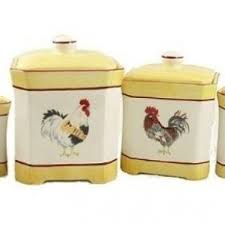 rooster kitchen canisters yellow canister set foter