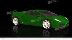 lamborghini sport luxury sport car lamborghini green color moving rotation stock