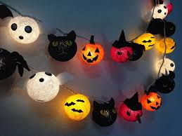 halloween ghost string lights halloween set cotton ball string lights cotton ball fairy