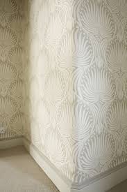best 20 wallpaper for living room ideas on pinterest living guest bathroom with greige painted trim farrow ball lotus wallpaper with skirting in slipper satin paint