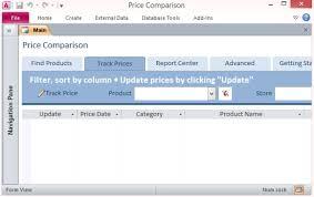 desktop price comparison template for accessaccess database
