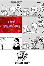 Troll Meme Comics - trolling my bro rage comic by albowtross91 on deviantart