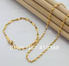 cheap gold necklace images Not fade fashion 2018 top quality 2mm width singapore twisted jpg