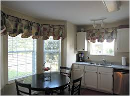 Bay Window Valance Kitchen Exquisite Cool Engaging Kitchen Curtains Bay Window