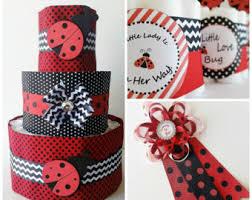 Ladybug Themed Baby Shower Cakes - ladybug baby shower etsy