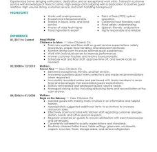 Restaurant Resume Examples 100 Food Service Resume Samples Fast Food Restaurant Resume
