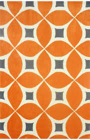Orange Modern Rug Rugs Usa Radiante Trellis Bc55 Orange Rug 100 Polyester