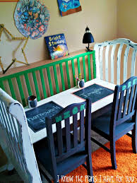 Repurposing Old Furniture by I Know The Plans I Have For You Crib Turned Craft Station Old