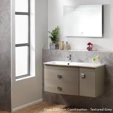Bathroom Combination Furniture by Qualitex Ascent Furniture Glow Wall Hung Base Unit U0026 Basin