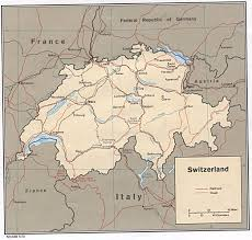 Swiss Map Switzerland Maps Perry Castañeda Map Collection Ut Library Online
