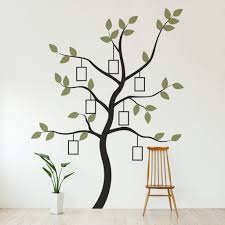family tree wall decal with picture frames tree wall stickers