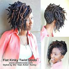 what products is best for kinky twist hairstyles on natural hair flat kinky twist updo hair how to s pinterest updo natural
