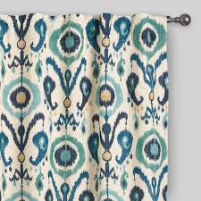Yellow And Navy Shower Curtain Curtains Drapes U0026 Window Treatments World Market