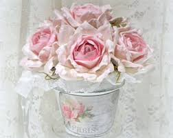 Shabby Chic Flower Arrangement by Shabby Chic Floral Arrangement Shabby Chic Decor Rose