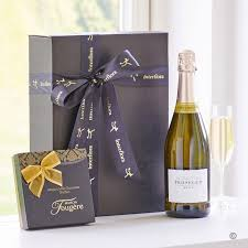 wine gifts delivered prosecco chocolate truffles gift box delivery isle of wight