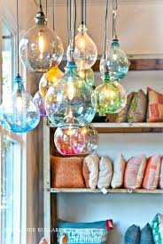 custom blown glass pendant lights hand blown glass globes light fixtures younited co