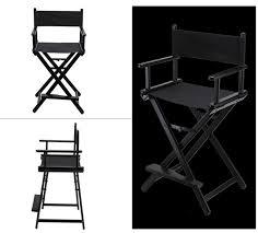 Folding Directors Chair High Aluminum Frame Makeup Artist Director Chair Foldable Outdoor