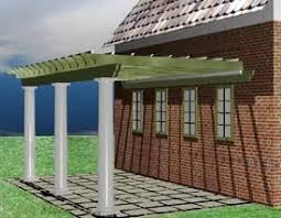 Attached Pergola Plans by Pergola Plans For Pergolas Attached And Plans For Freestanding