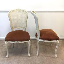 Louis 15th Chairs Chateau D U0027ax Suede Seat Louis Xv Chairs A Pair Chairish