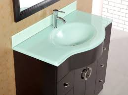 bathrooms design glass top vanity bathroom on throughout sink