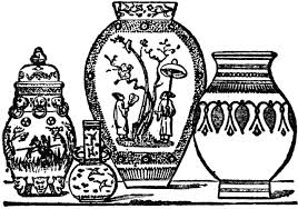 japanese and indian vases clipart etc