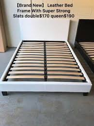 Slatted Bed Base Queen Brand New Leather Bed Frame Base With Super Strong Slats D 150 Q