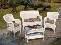 outdoor white plastic wicker outdoor patio furniture ideas