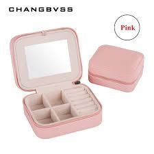 cheap casket fashion women s mini jewelry box travel makeup organizer faux