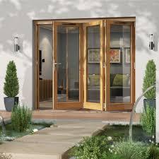 Bq Patio Doors Golden Oak Timber Glazed Patio Patio Door H 2094mm W 2394mm
