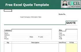 sample quotation doc quote formate templates radiodigital co