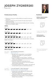 social media resume social media coordinator resume experimental concept exle