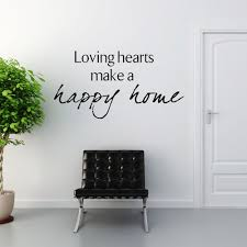 home wall loving hearts make a happy home wall sticker decals walls