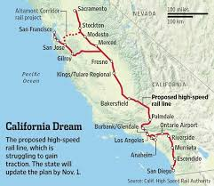 california high speed rail map why is the california high speed rail the slowest in the world